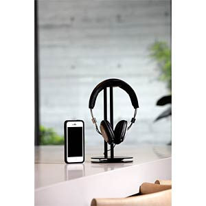 Desktop stand for headphones JUST MOBILE HS-100BK