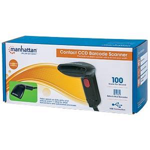 Barcodescanner, CCD, USB, 60 mm, Kontakt-Scanner MANHATTAN 178488