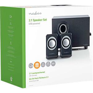 Lautsprecher, PC/Laptop, Stereo, 3,5-mm-Buchse NEDIS CSPR10021BK