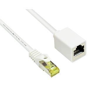 Patchkabelverlängerung, weiß, 10m GOOD CONNECTIONS 8070VR-100W