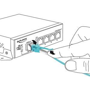 Kabel LWL LC/LC Uniboot OM3 50/125µ  1m DELOCK 85127