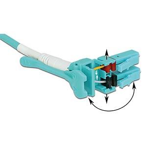 Kabel LWL LC/LC Uniboot OM3 50/125µ  3m DELOCK 85129