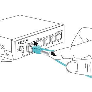 Kabel LWL LC/LC Uniboot OM3 50/125µ  5m DELOCK 85130