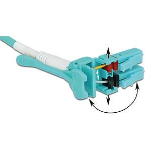 Kabel LWL LC/LC Uniboot OM3 50/125µ 10m DELOCK 85131