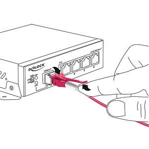 Kabel LWL LC/LC Uniboot OM4 50/125µ  2m DELOCK 85133