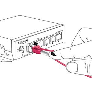 Kabel LWL LC/LC Uniboot OM4 50/125µ  3m DELOCK 85134
