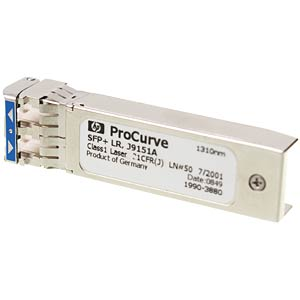 HP SFP+ transceiver module — 10GBase-LR — LC/UPC single mode HEWLETT PACKARD J9151A