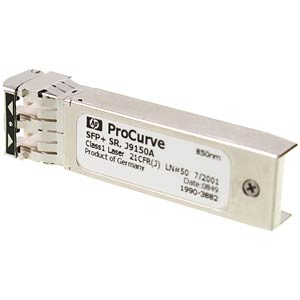 HP SFP+ transceiver module — 10GBase-SR — LC/UPC multi mode HEWLETT PACKARD ENTERPRISE J9150A
