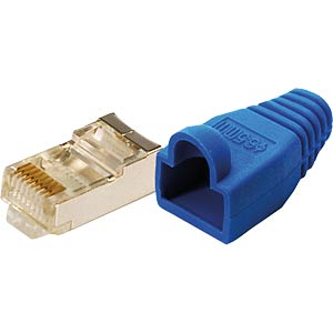 Modularstecker CAT5e blau 100 Stk. LOGILINK MP0014