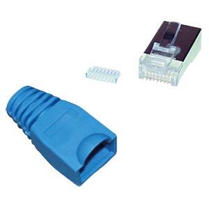 Cat.5e/6 Stecker + Einführhilfe blau, 10 Stk. SHIVERPEAKS BS72057-B-10