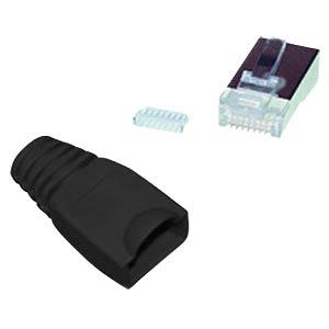 Cat.5e/6 Stecker + Einführhilfe schwarz, 10 Stk. SHIVERPEAKS BS72057-S-10