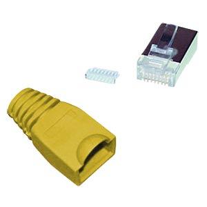 Cat.5e/6 Stecker + Einführhilfe gelb, 10 Stk. SHIVERPEAKS BS72057-Y-10