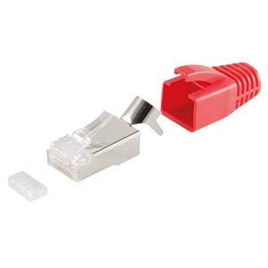 Stecker SET Kabel bis AWG 23, rot, 10 Stk. SHIVERPEAKS BS72067-10R