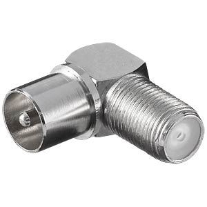 F-Stecker, F-Buchse auf IEC-Stecker, gewinkelt 90° FREI