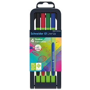 Line-Up, Fineliner, 0,4 mm, 4-er Set SCHNEIDER 191094