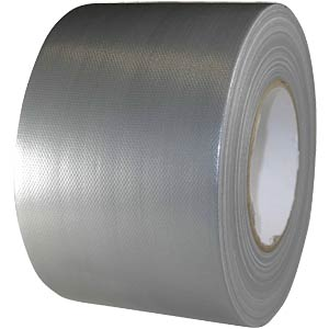 Fabric tape 100 mm x 50 m, colour: silver FREI