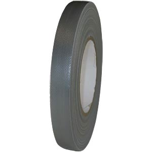 Fabric tape 19 mm x 50 m, colour: silver FREI