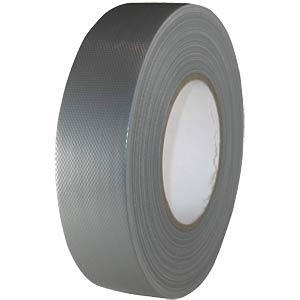 Fabric tape 38 mm x 50 m, colour: silver FREI