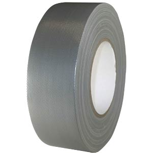 Fabric tape 50 mm x 50 m, colour: silver FREI