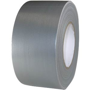 Fabric tape 75 mm x 50 m, colour: silver FREI