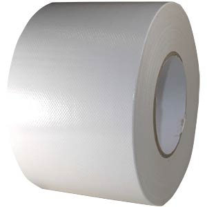 Fabric tape 100 mm x 50 m, colour: white FREI