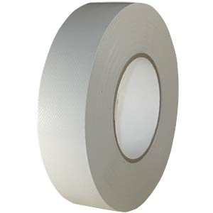 Fabric tape 38 mm x 50 m, colour: white FREI