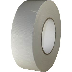 Fabric tape 50 mm x 50 m, colour: white FREI