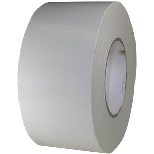 Fabric tape 75 mm x 50 m, colour: white FREI