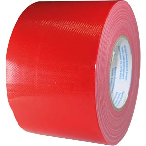 Fabric tape 100 mm x 50 m, colour: red FREI