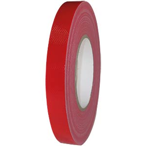 Fabric tape 19 mm x 50 m, colour: red FREI