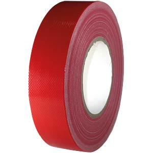 Fabric tape 38 mm x 50 m, colour: red FREI
