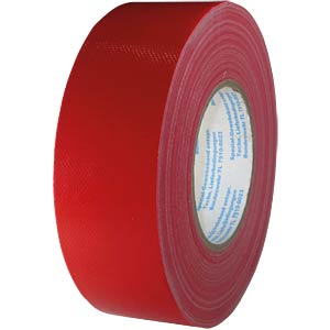 Fabric tape 50 mm x 50 m, colour: red FREI