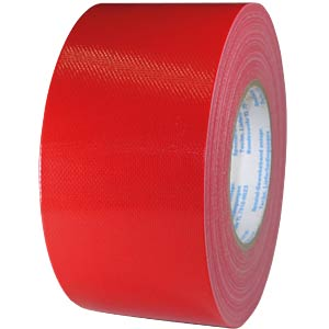 Fabric tape 75 mm x 50 m, colour: red FREI