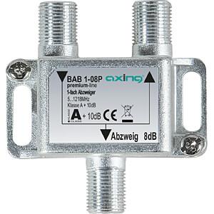 SAT-Abzweiger, 1-fach, 8 dB AXING BAB 1-08P