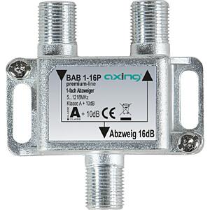 SAT-Abzweiger, 1-fach, 16 dB AXING BAB 1-16P
