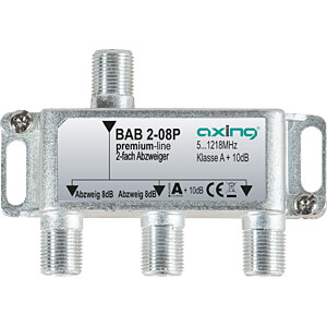 Abzweiger 5-1218 MHz, 2-fach, 8 dB AXING BAB 2-08P
