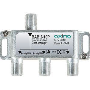 Abzweiger 5-1218 MHz, 2-fach, 10 dB AXING BAB 2-10P