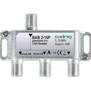 SAT-Abzweiger, 2-fach, 16 dB AXING BAB 2-16P