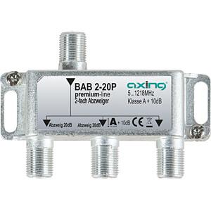Axing 2-way satellite splitter, 20 db AXING BAB 2-20P