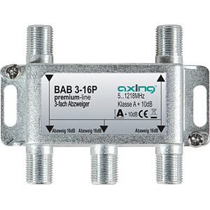 Abzweiger 5-1218 MHz, 3-fach, 16 dB AXING BAB 3-16P