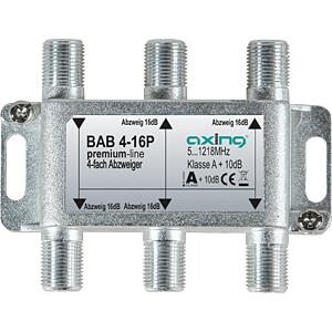 Abzweiger 5-1218 MHz, 4-fach, 16 dB AXING BAB 4-16P