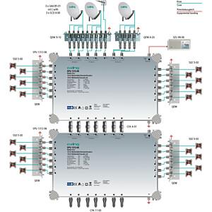 Multischalter, 13 in 12, Kaskadebaustein, basic-line AXING SPU 1312-06
