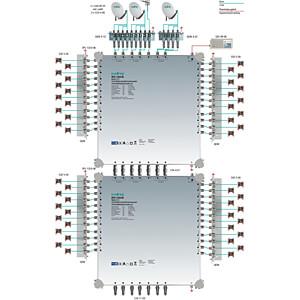 Multischalter, 13 in 24, Kaskadebaustein, basic-line AXING SPU 1324-06
