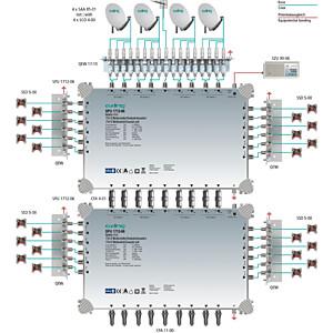 Multischalter, 17 in 12, Kaskadebaustein, basic-line AXING SPU 1712-06