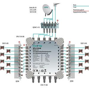 Multischalter, 5 in 16, Kaskadebaustein, basic-line AXING SPU 516-06