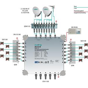 Multischalter, 9 in 12, Kaskadebaustein, basic-line AXING SPU 912-06