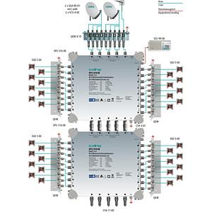 Multischalter, 9 in 16, Kaskadebaustein, basic-line AXING SPU 916-06