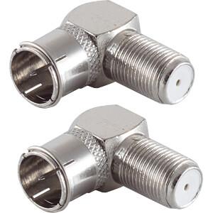 SHVP BS15-300414 - 2x F-Quick Winkel-Adapter F-Stecker auf F-Buchse