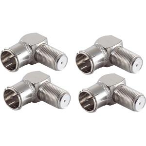 SHVP BS15-300514 - 5x F-Quick Winkel-Adapter F-Stecker auf F-Buchse