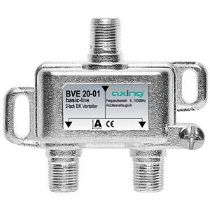 BK-Verteiler, 2-fach, 3,6 - 4,5 dB AXING BVE02001
